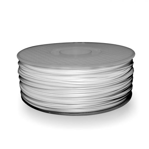A spool of ABS plastic filament in 1KG White