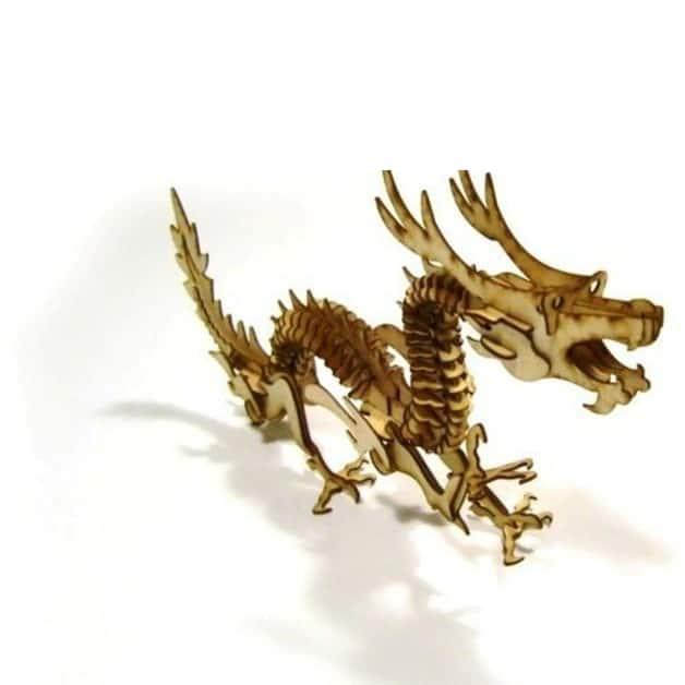 laser cutting project - dragon made with laser cutter