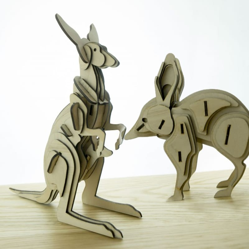 laser cutting project - kangaroo- made with laser cutter