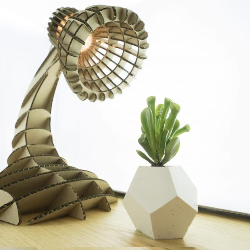 laser cutting project - lamp made with laser cutter