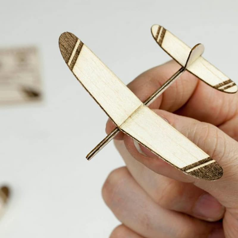 laser cutting project - plane made with laser cutter