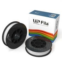 Box of UP Genuine Original ABS 1.75mm diameter filament 2 spools of 500g per pack in white