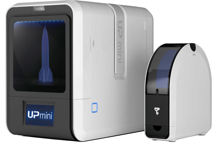 TierTime UP Mini 2 3D Printer, with filament holder for 3D printing