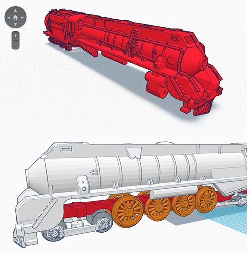 3D CAD design model train from New Zealand