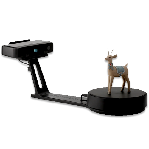 EinScan SE Desktop 3D scanner with model on top
