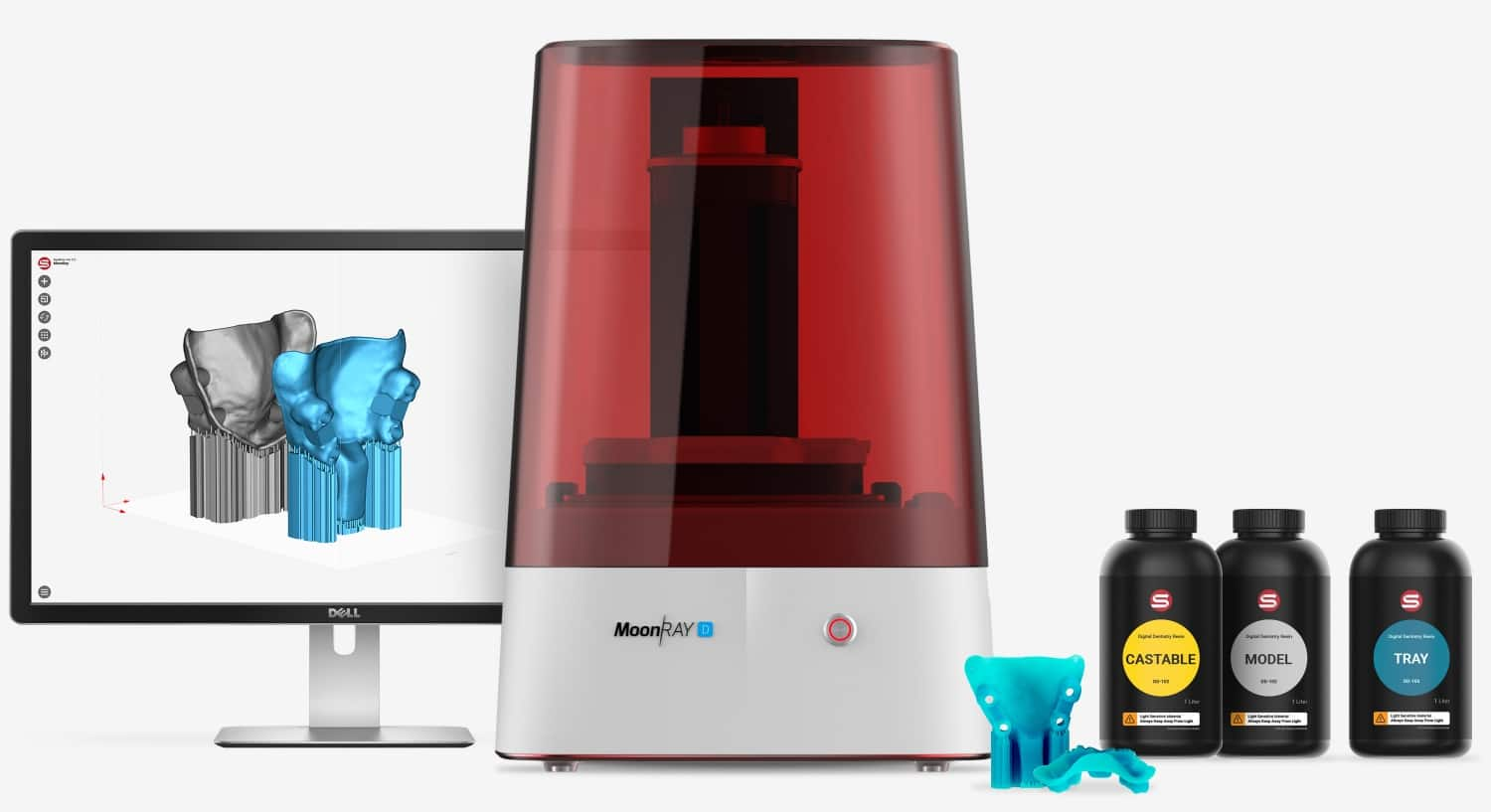 moonray 3d printer and resin