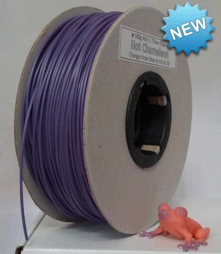Hot Chameleon Purple to Pink 500g ABS filament  (colour changing)