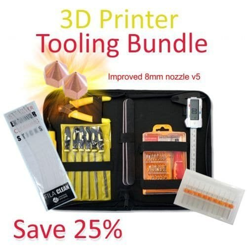 3D Printer Tooling Bundle - Only for printers with 8mm nozzle